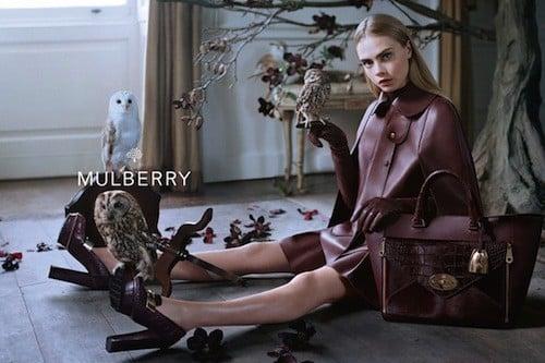 Les sacs élégants et urbains de Cara Delevingne pour Mulberry